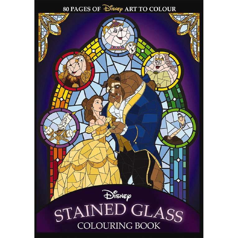 Disney: Stained Glass Colouring Book, , hi-res