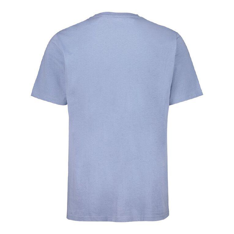 H&H Men's Crew Neck Short Sleeve Pocket Tee, Blue Mid, hi-res