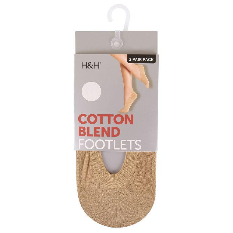 H&H Women's Seam Free Footlets, Natural, hi-res