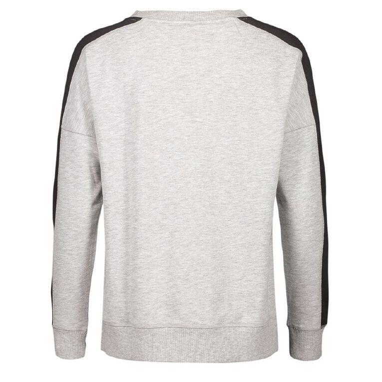Active Intent Women's Long Sleeve Lifestyle Sweatshirt, Grey Marle, hi-res