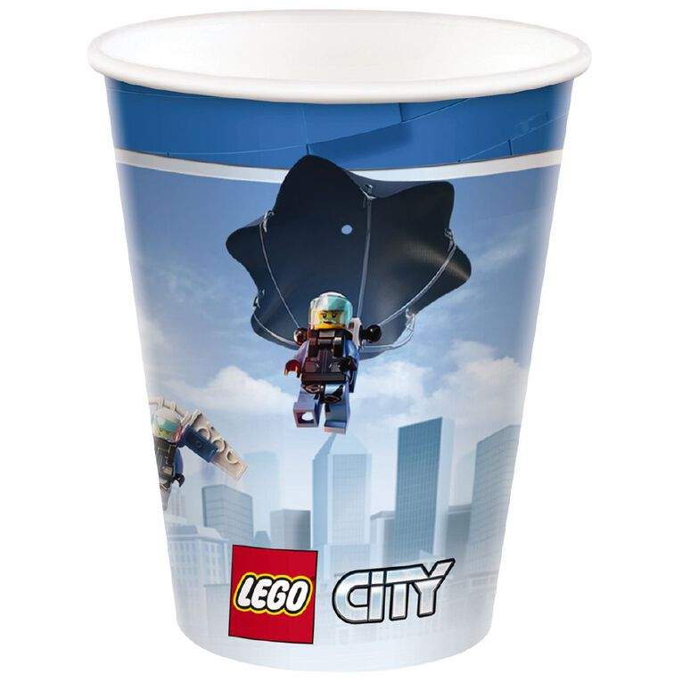 LEGO City Cups 266ml 8 Pack, , hi-res image number null