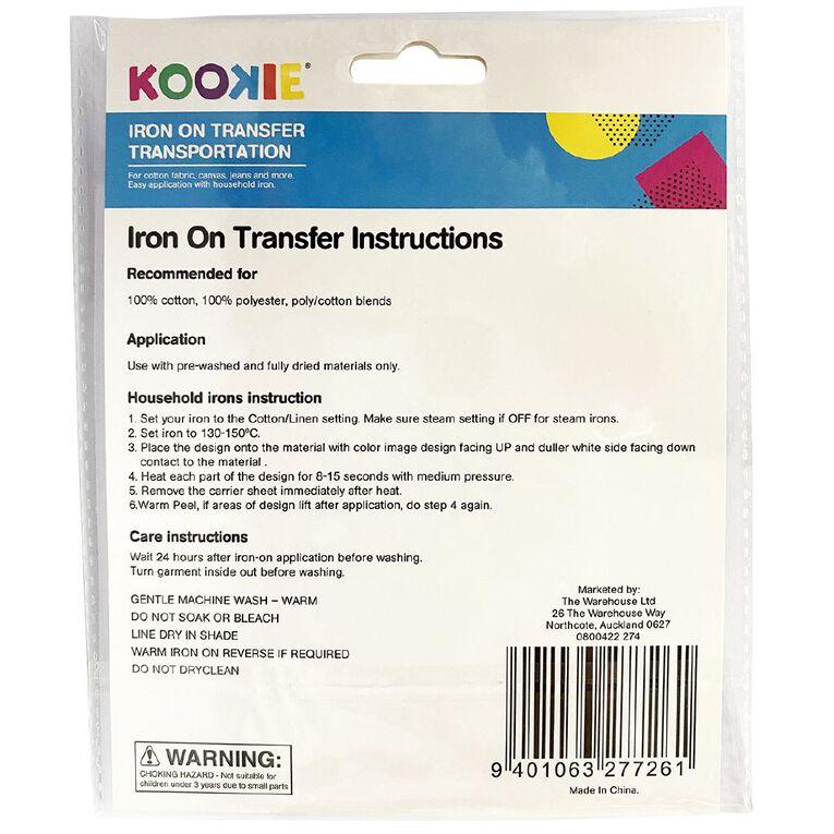 Kookie Iron on Transfer Transport, , hi-res