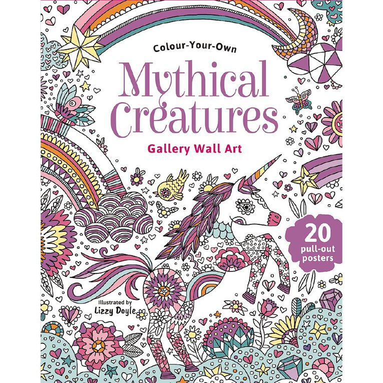 Colour Your Own: Mythical Creatures Wall Art, , hi-res