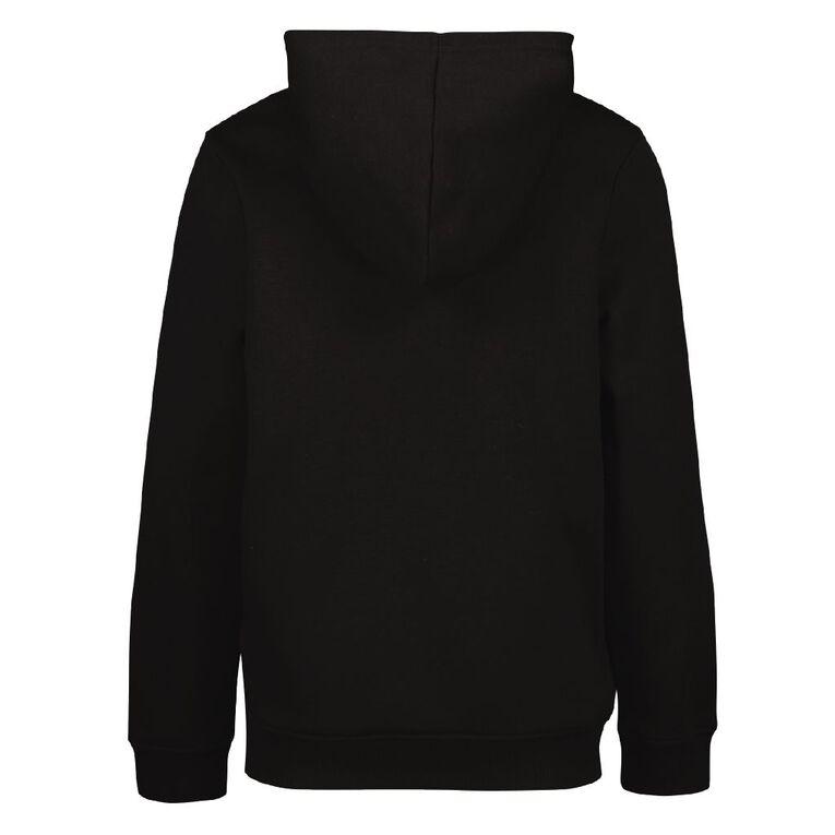 Young Original Plain Zip-Thru Hoodie, Black, hi-res