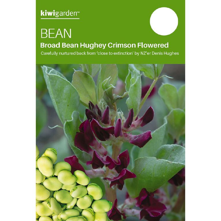 Kiwi Garden Broad Bean Hughey Crimson Flowered, , hi-res