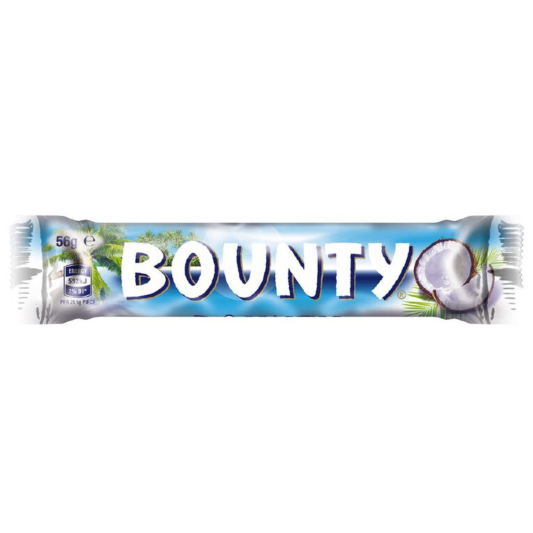 Bounty Milk Chocolate Bar 56g, , hi-res