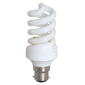 Edapt CFL Spiral B22 Light Bulb 20w Warm White 2 Pack