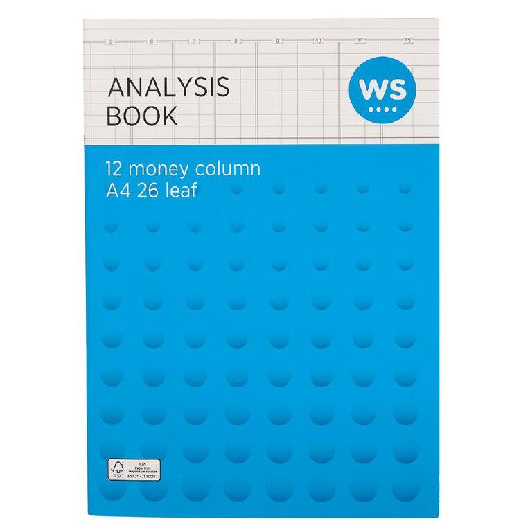 WS Analysis Book Limp 12 Column Green A4, , hi-res