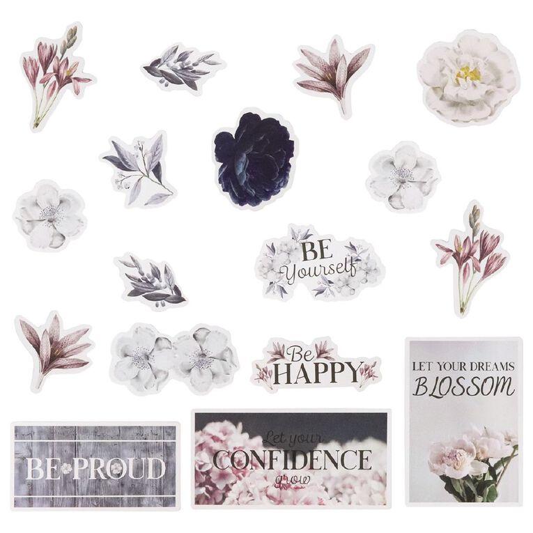 Uniti Morning Blossom Cardstock Die Cut Shapes 34 Pieces, , hi-res