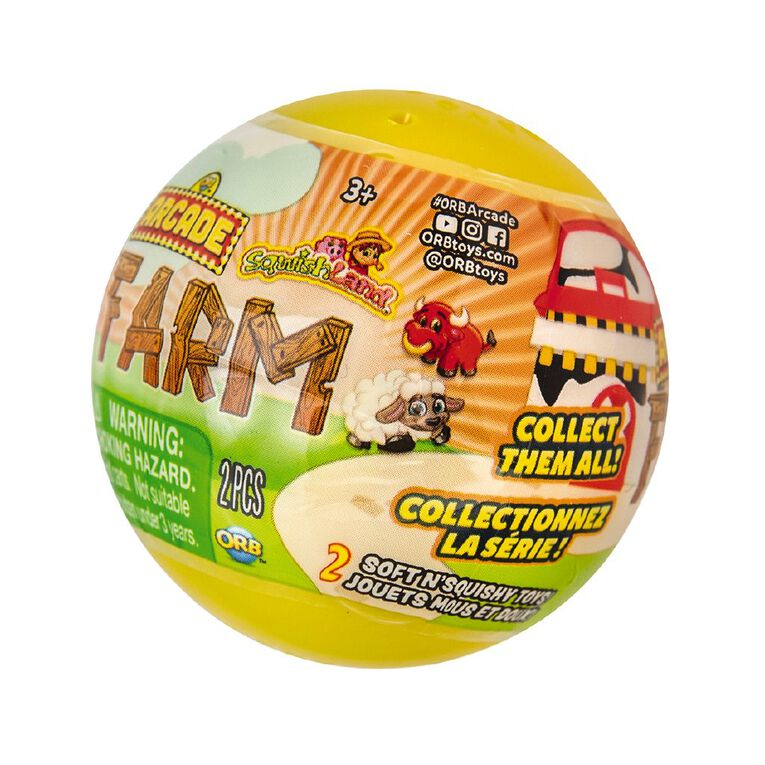 ORB Arcade Capsules Sqwishland Farm Collection Assorted, , hi-res