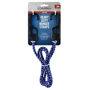Autohaus Heavy Duty Bungee Strap 2 Pack Blue 90cm