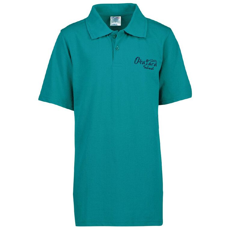 Schooltex Otatara School Short Sleeve Polo with Embroidery, Jade, hi-res image number null
