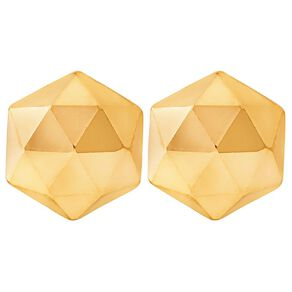 9ct Gold Faceted Stud Earrings