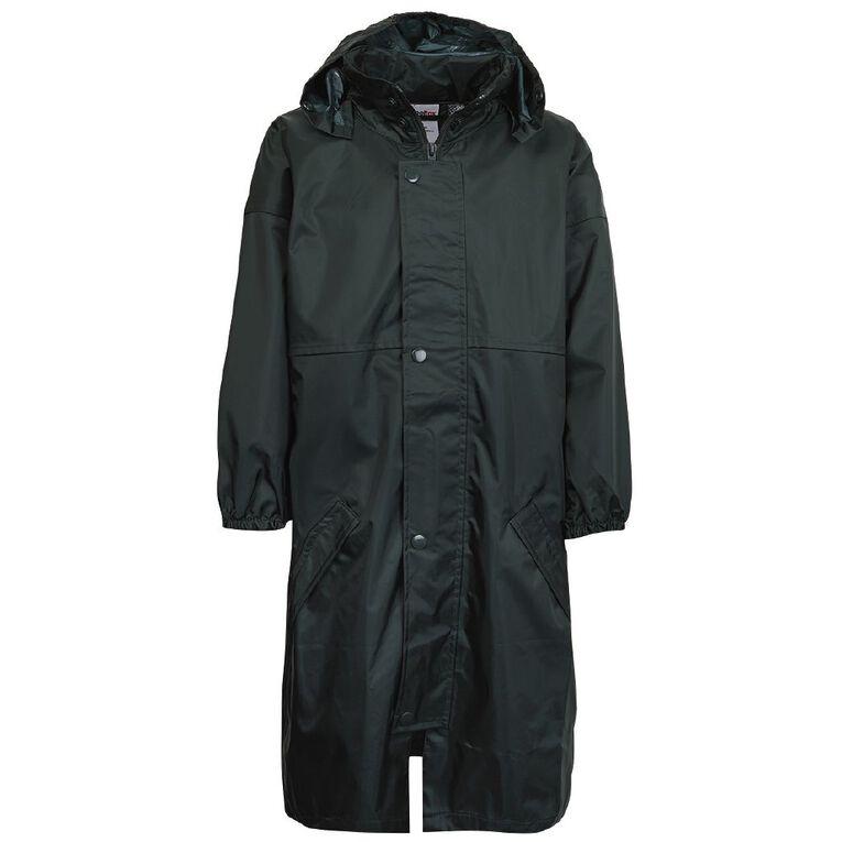 Schooltex Kids' Raincoat Hood within Collar, Bottle Green, hi-res
