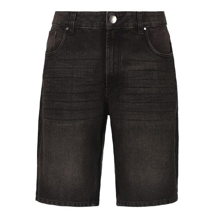 H&H Denim Shorts, Black, hi-res