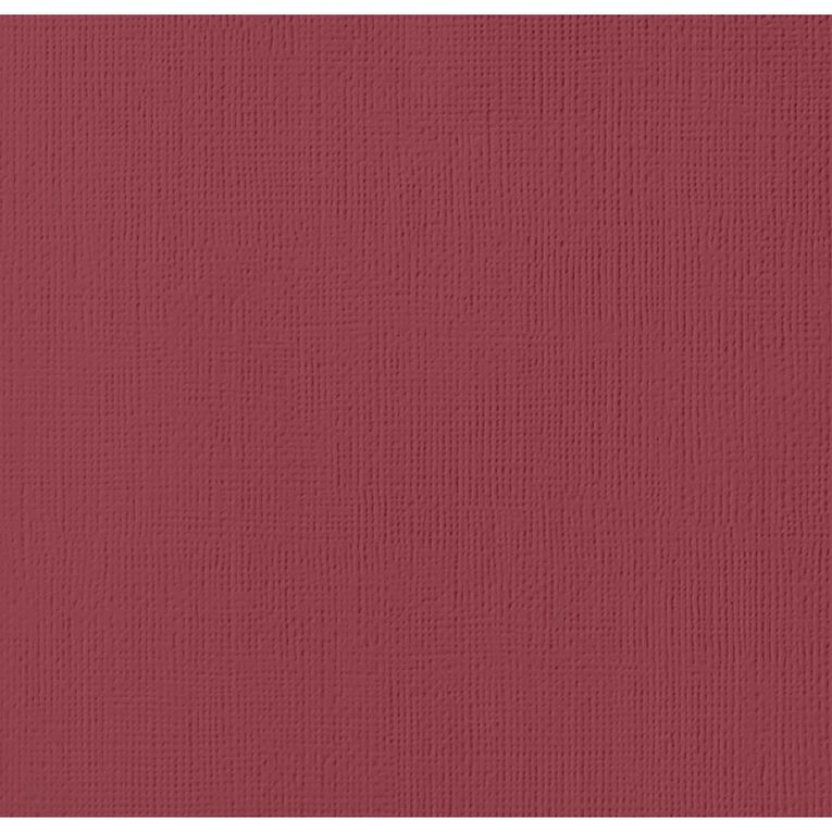 American Crafts Cardstock Textured Pomegranate 12in x 12in, , hi-res