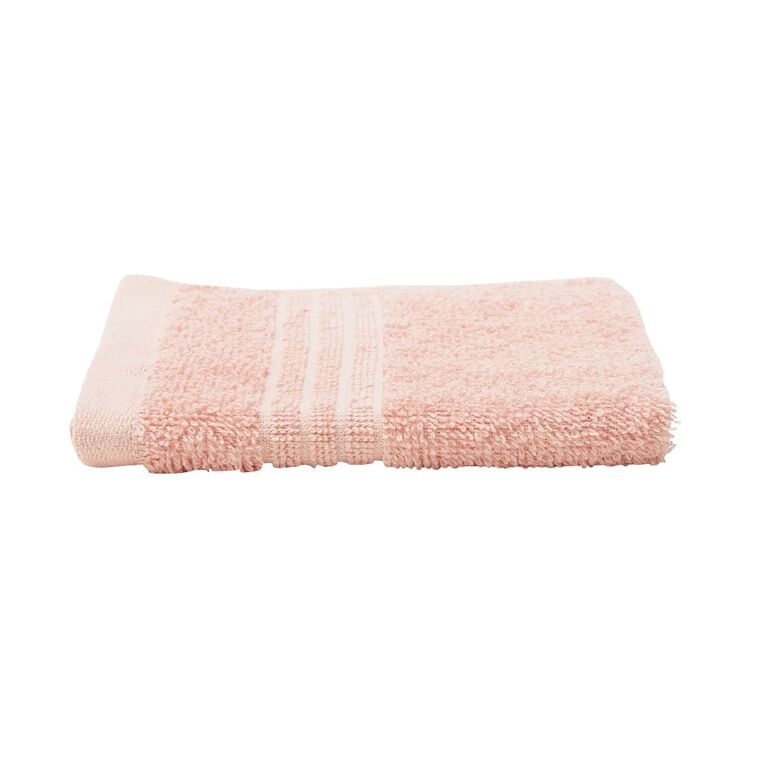 Living & Co Manhattan Face Towel Pink 30cm x 30cm, Pink, hi-res