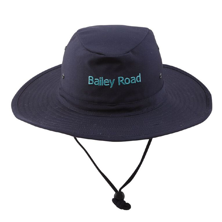 Schooltex Bailey Road Aussie Hat with Embroidery, Navy, hi-res
