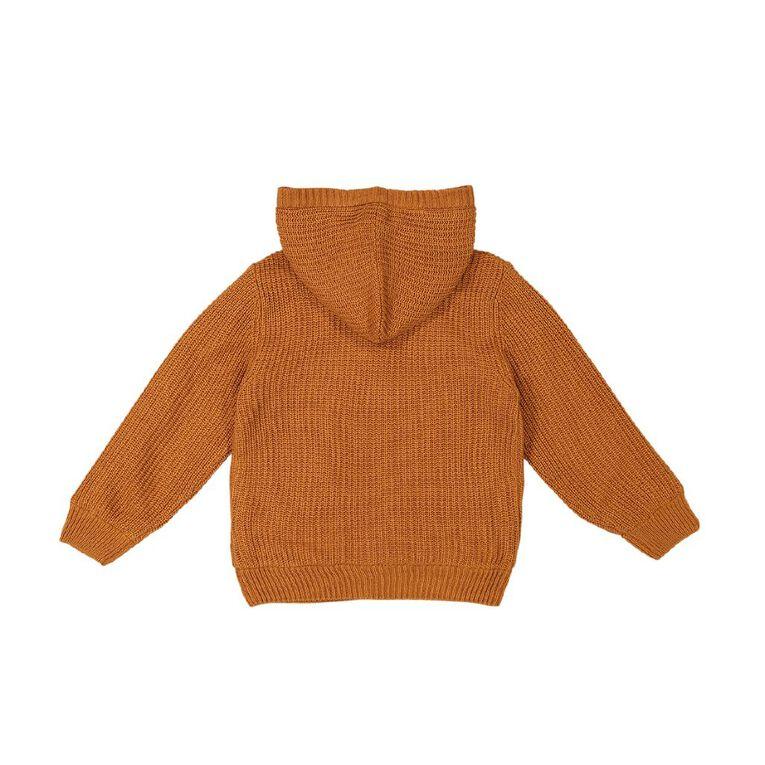 Young Original Knit Microfleece Hoodie Jumper, Orange Mid, hi-res