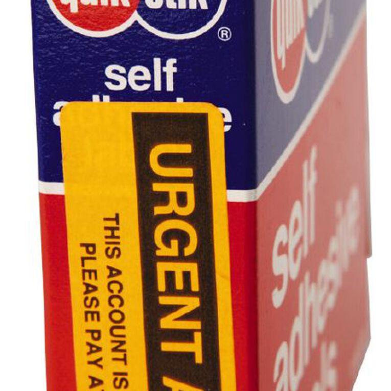 Quik Stik Labels Urgent Action Permanent 125 Pack Orange, , hi-res image number null