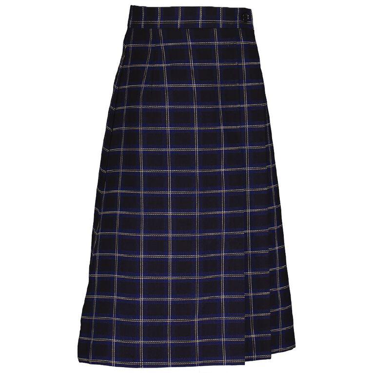 Schooltex Skirt Bohally Tartan, Navy, hi-res