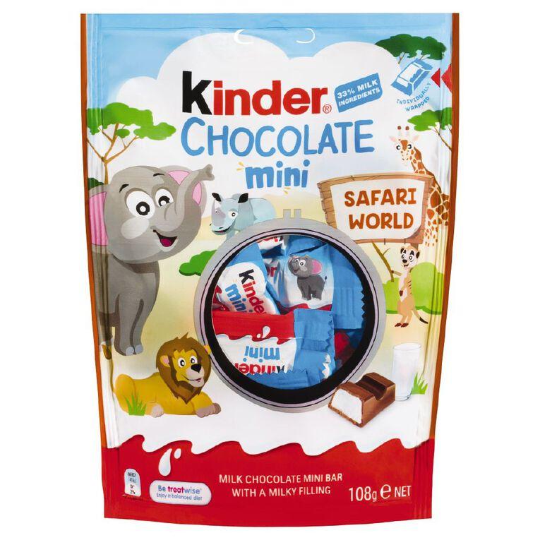 Kinder Chocolate Minis 120g 20 Pack, , hi-res