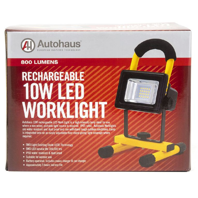 Autohaus 10W LED Worklight Rechargeable, , hi-res