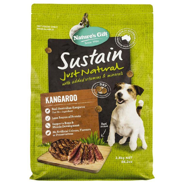 Nature's Gift Sustain Kangaroo Dog Food 2.5kg, , hi-res