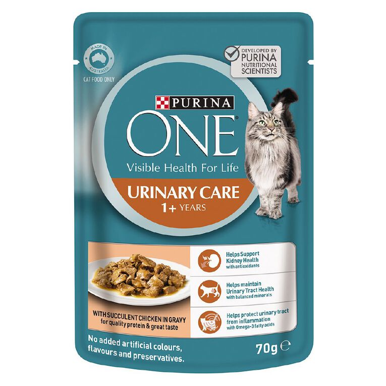 Purina ONE Cat Pouch Urinary Care Formula 70g, , hi-res