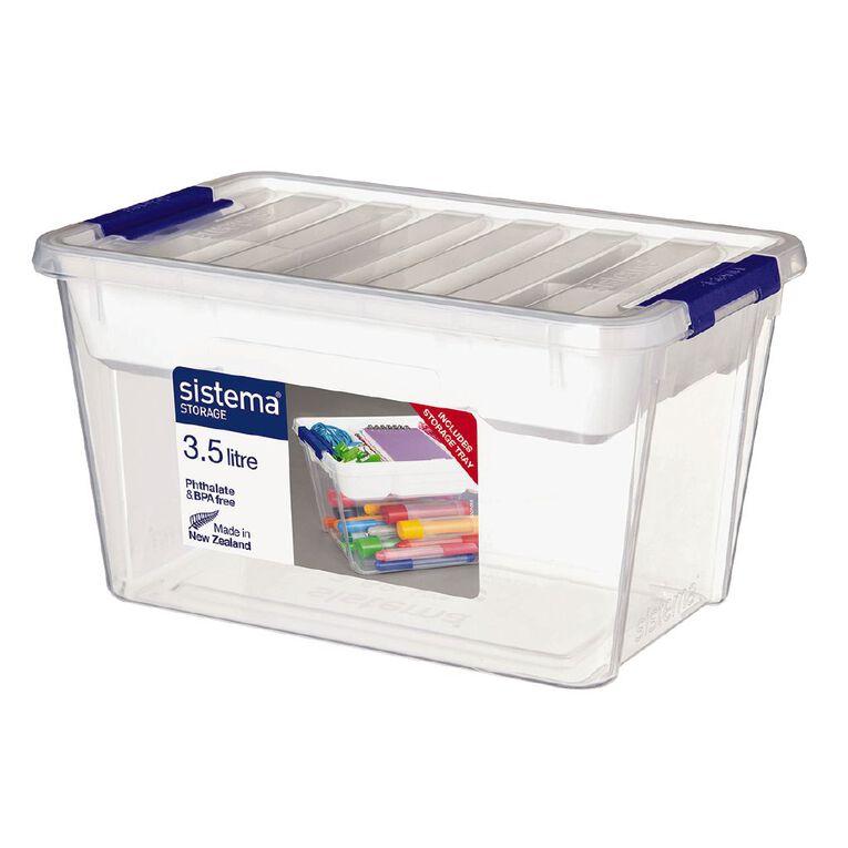 Sistema Storage Organiser Clear 3.5L, , hi-res