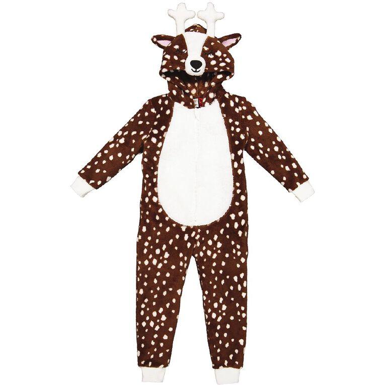 H&H Kids' Deer Onesie, Brown, hi-res