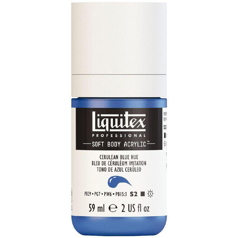 Liquitex Soft Body Acrylic 59ml Cerulean Blue S3, , hi-res
