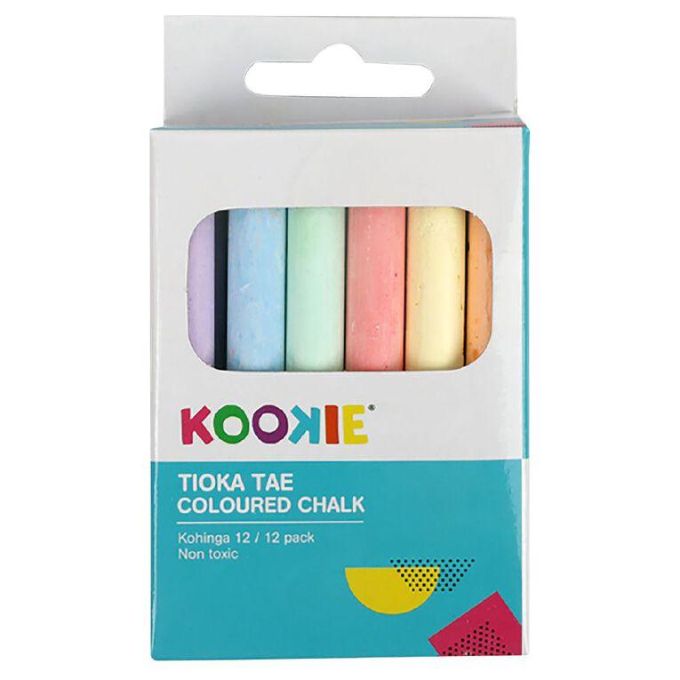 Kookie Coloured Chalk 12 Pack, , hi-res