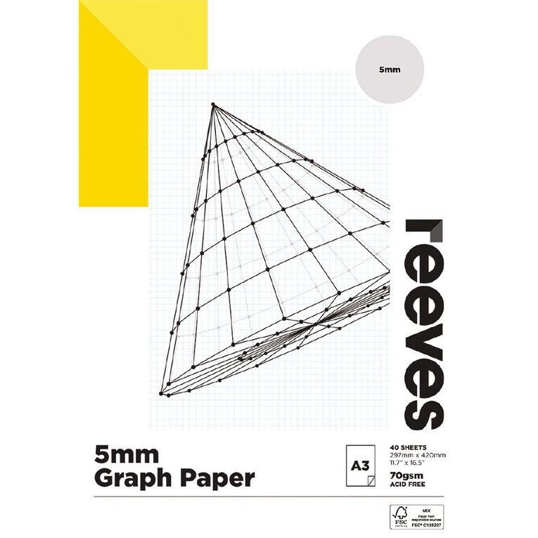 Reeves Graph Pad 5mm 70gsm A3, , hi-res