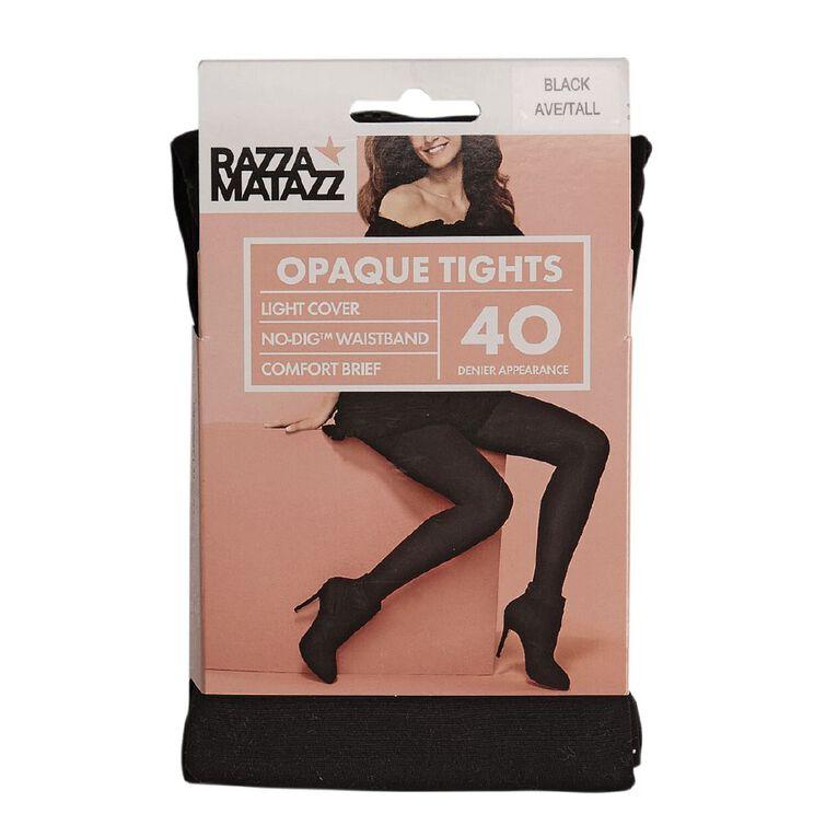 Razzamatazz Women's Opaque Comfort Tights 40 Denier 1 Pack, Black, hi-res