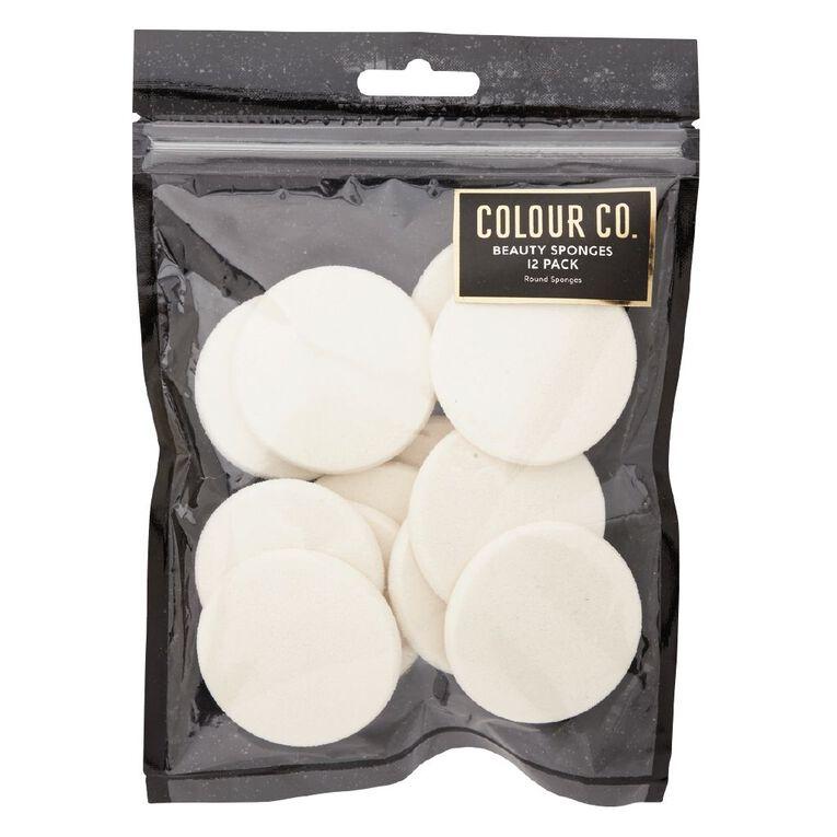 Colour Co. Beauty Sponges Round 12 Pack, , hi-res