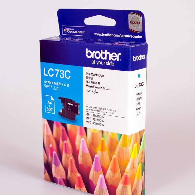 Brother Ink LC73 Cyan (600 Pages), , hi-res