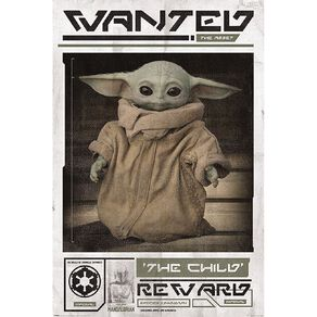 Poster #38 Mandalorian 'The Child' Wanted Poster With Baby Yoda