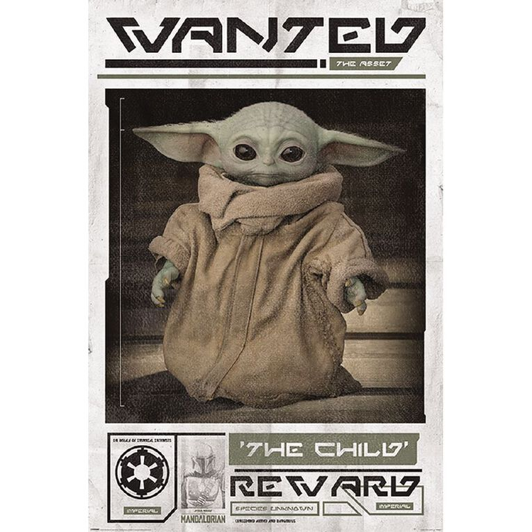 Poster #38 Mandalorian 'The Child' Wanted Poster With Baby Yoda, , hi-res