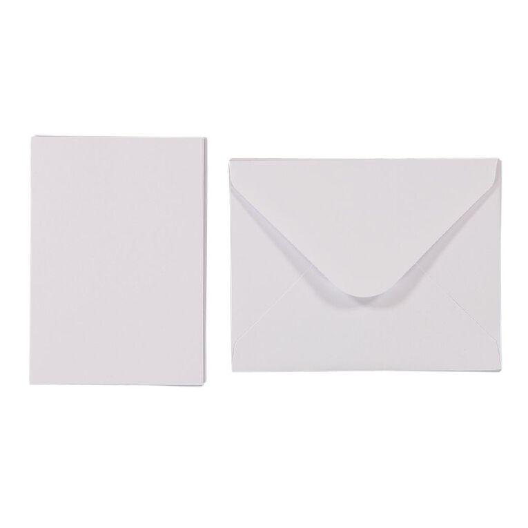 Uniti Mini Cards & Envelopes White 6 Pack, , hi-res