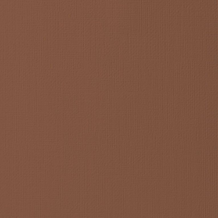 American Crafts Cardstock Textured Chocolate 12in x 12in, , hi-res