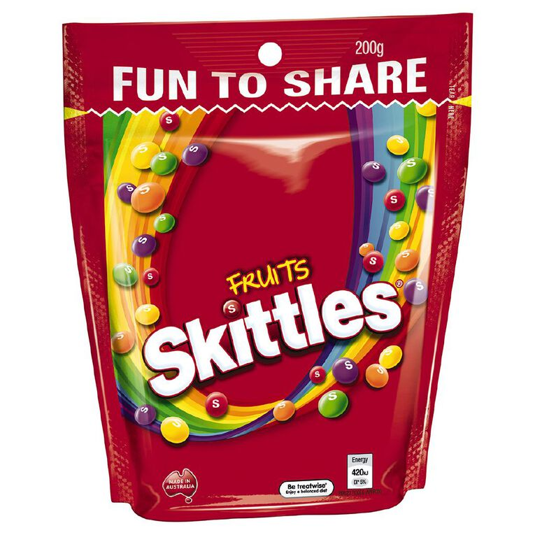 Skittles Fruits Lollies Large Bag 200g, , hi-res