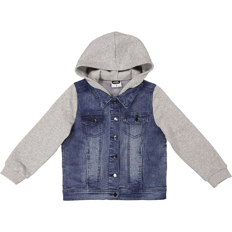 Young Original Contrast Denim Jacket, Blue Mid, hi-res image number null