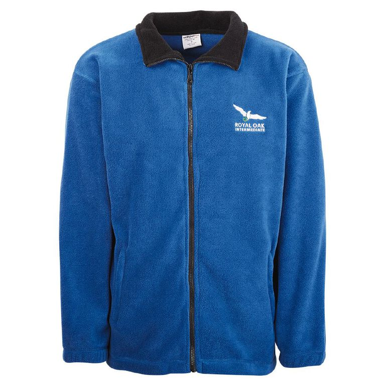Schooltex Royal Oak Intermediate Polar Fleece Jacket with Embroidery, Royal/Black, hi-res