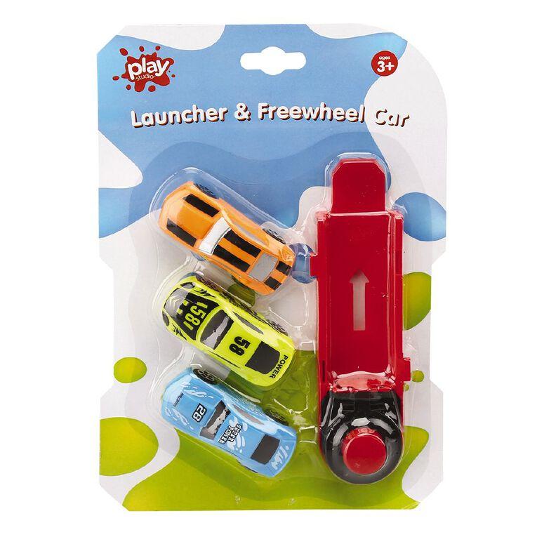 Play Studio Launcher and Freewheel Car Assorted, , hi-res