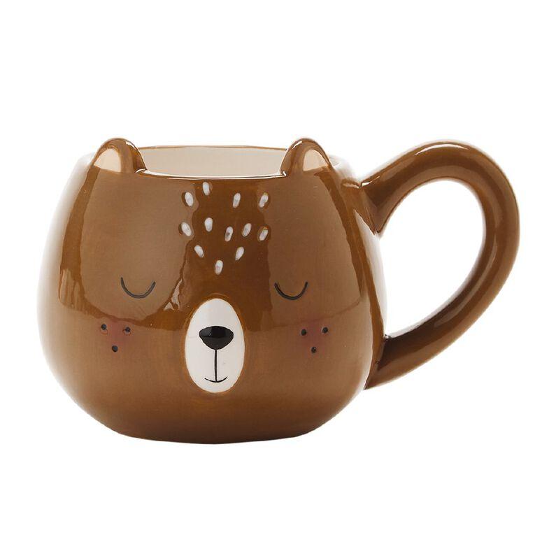 Living & Co Bear Shaped Novelty Mug, , hi-res