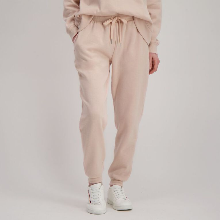 H&H Women's Cuffed Trackpants, Pink Light, hi-res
