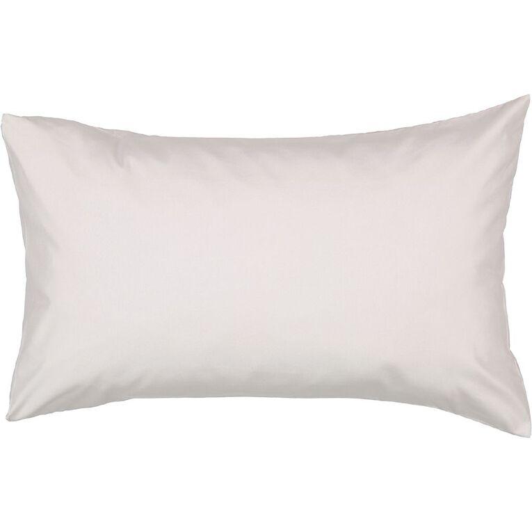 Living & Co Pillowcase Standard Microfibre 2 Piece Grey 48cm x 73cm, Grey, hi-res
