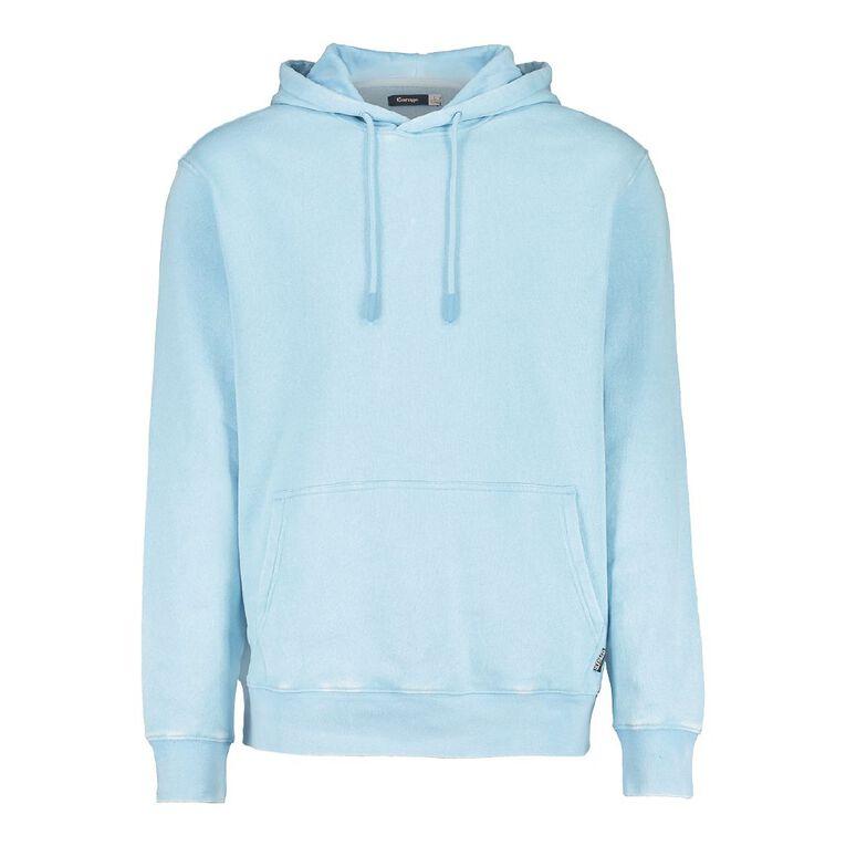 Garage Men's Garment Dyed Hooded Sweatshirt, Turquoise, hi-res