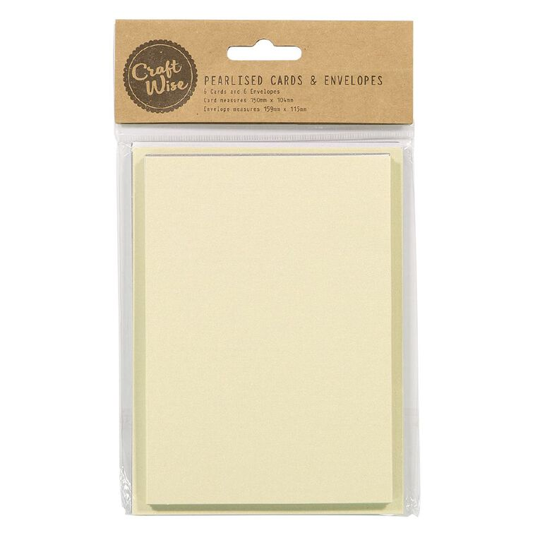 Uniti Cards & Envelopes Ivory 6 Pack, , hi-res